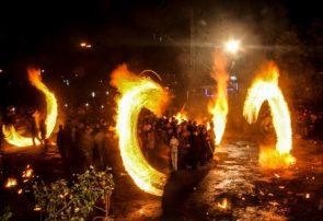 شرارههای آتش در گلستان حسینی